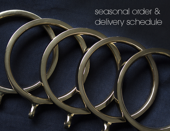 Seasonal order and delivery schedule