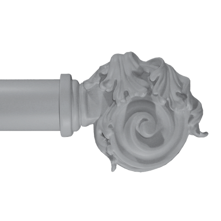acanthus on scroll finial