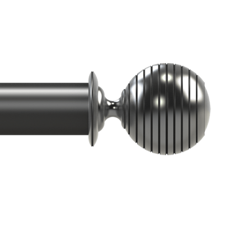 ribbed sphere finial
