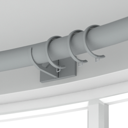 curved pole